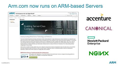 ARM.comの中身を紹介しているわけではなく、単にARM v8-Aベースサーバの紹介をしているだけ