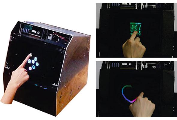 図1 空中触覚タッチパネル