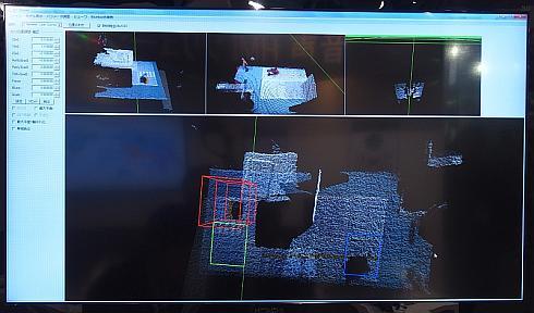 3台のKINECTの3D情報を用いて作成した高精度の3D地図データ
