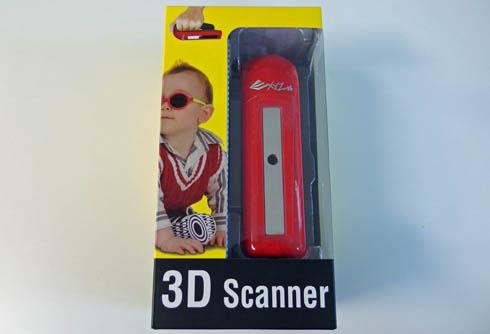 「XYZprinting ハンドヘルド 3Dスキャナー」のパッケージ