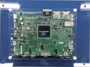 車載情報機器向けSoCの第3世代「R-Car H3」の評価ボード