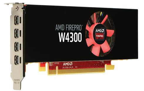 CAD環境向けグラフィックスカード「AMD FirePro W4300」