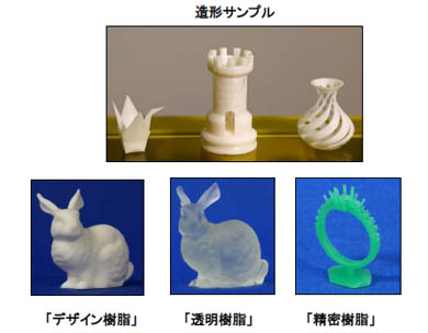 DLP方式の光造形3Dプリンタ「ML-48」の造形サンプル