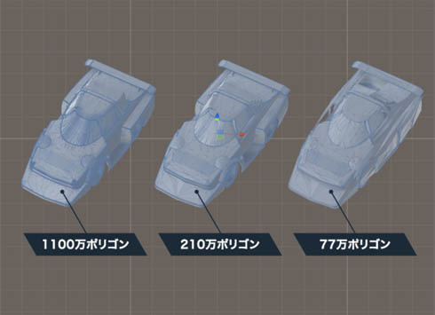 「Unity CAD Importer」のポリゴン削減機能について