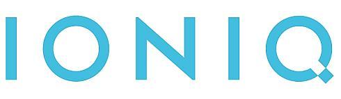 「IONIQ」の車両ロゴ