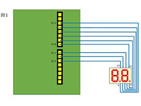 図1  ダイナミック点灯に対応すべく回路も変更した