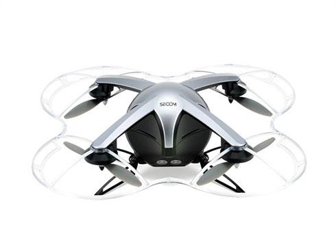 自律型小型飛行監視ロボット「セコムドローン」