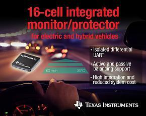 日本TIの電池監視IC「bq76PL455A-Q1」