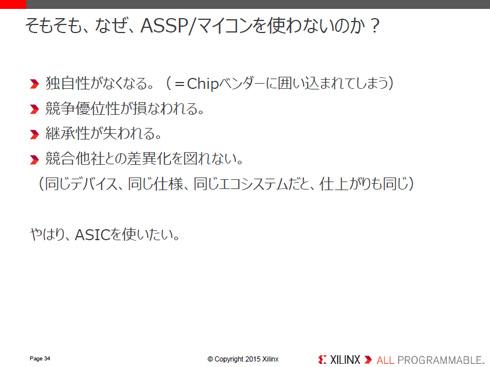 ASSP/マイコンを使わない方がいい理由