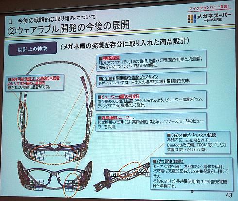 メガネ型ウェアラブル端末の特徴