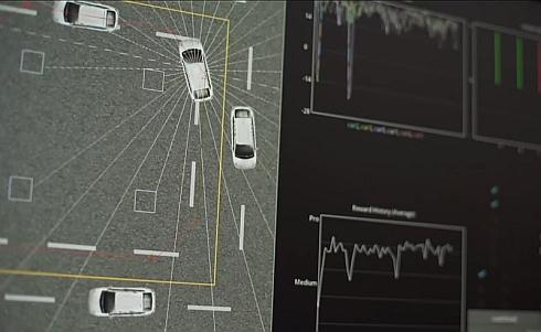 トヨタ自動車が「2016 International CES」で行う「分散機械学習のデモンストレーション」の様子