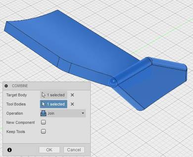 翼形状の一体化(2)