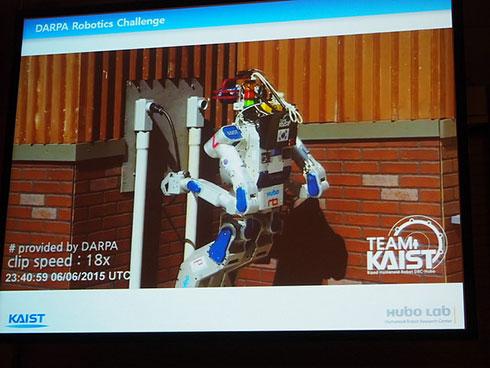 DRCで優勝した韓国科学技術院「KAIST」チームのチャレンジの様子