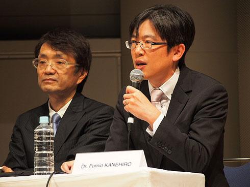 中村仁彦氏(左)、金広文男氏(右)