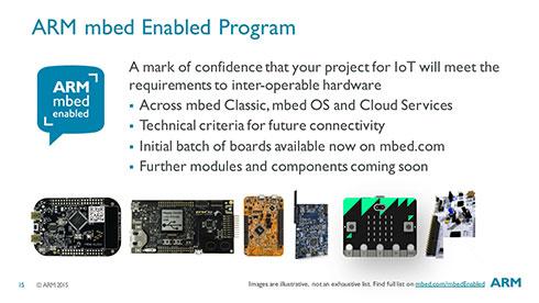 """Photo04:ちなみにこのスライド右下にあるURLはnot foundとなる。現時点では""""https://www.mbed.com/en/about-mbed/mbed-enabled/""""が当該ページとなる"""