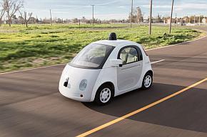 グーグルの自動運転専用小型車の走行イメージ