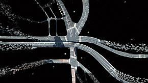 「地図自動生成システム」によって作成される高精度地図データのイメージ