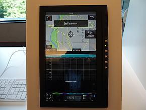 トヨタ自動車が2015年6月開催の「Automotive Linux Summit 2015」で出展していたLinuxベースの車載情報機器のデモンストレーション