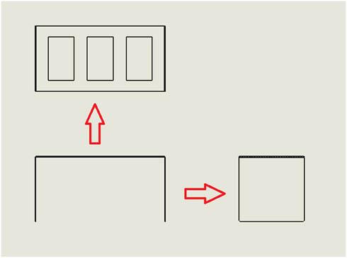 正面図が決まったら平面図、側面図を描いていく