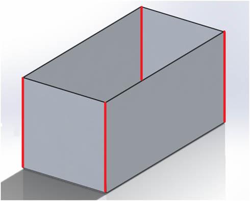 「折り上げのみ。溶接しない」を赤線で示している