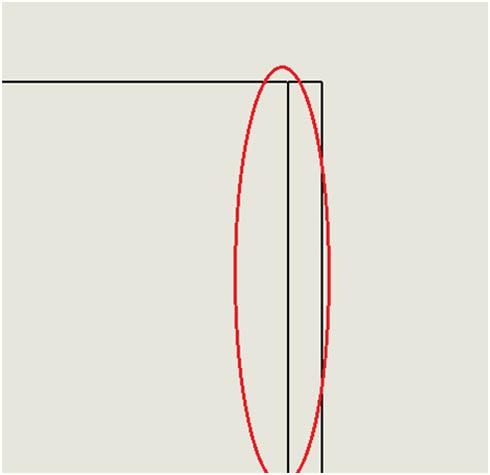 壁の合わせ部分(側面図)