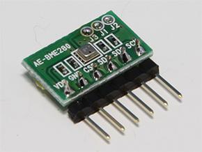秋月電子通商で販売されている「BME280使用 温湿度・気圧センサモジュールキット」