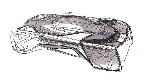 「FFZERO1」のデザインスケッチ
