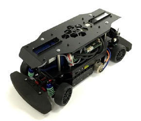 実車の10分の1スケールの自動運転の研究開発向けロボットカー「RoboCar 1/10 2016」