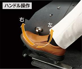 ステアリングペダルによる操作のイメージ
