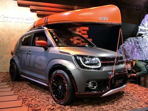 カヌーなど水辺のアクティビティーを好むドライバー向けに提案する「イグニス ウォーターアクティビティーコンセプト」