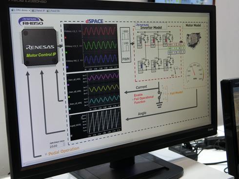 ルネサス エレクトロニクスがデモンストレーションを実施した「モデルベースIPソリューション」