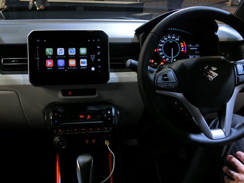 「イグニス」のメーカーオプションに設定されたカーナビで利用可能な「CarPlay」