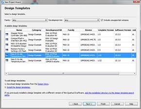 """Photo04:""""Nios II On-dir Temperature Sensor""""が2つあるのは、最初間違ってQuartus II 15.1.0をインストールしてしまったから(Software Versionの欄を見ると分かる)"""