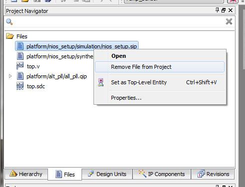 """Photo07:ファイル名を右クリックしてコンテクストメニューで""""Remove File from Project""""を選ぶと削除できる"""