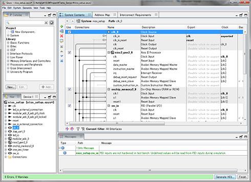 Photo11:この画面で、IPの形で提供される回路ブロックを追加/削除したり、構成を変更したりといった事も可能