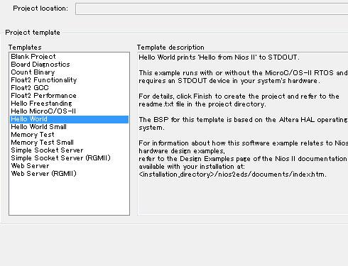 Photo22:簡単なプログラムのテンプレートも用意されている