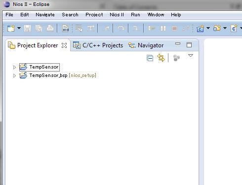Photo24:TempSensorはプログラムそのもの、TempSensor_bspはBSP(Board Support Package)で、要するにランタイムである