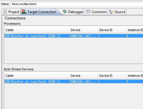 Photo31:もしUSB-Blasterが一覧にない場合、右のRefresh Connectionsを押して再検索する