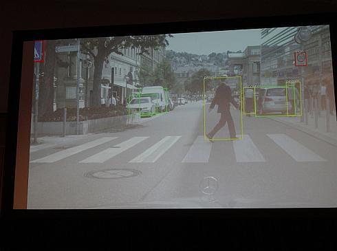 「DRIVE PX2」による認識能力の一例