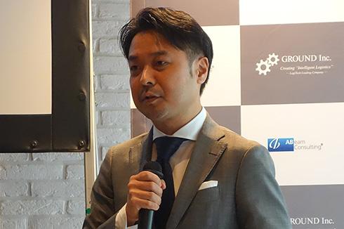 GROUNDの代表取締役社長、宮田啓友氏