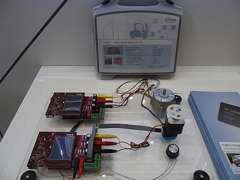「AURIX」の「モーターコントロールアプリケーションキット」を使ったデモ