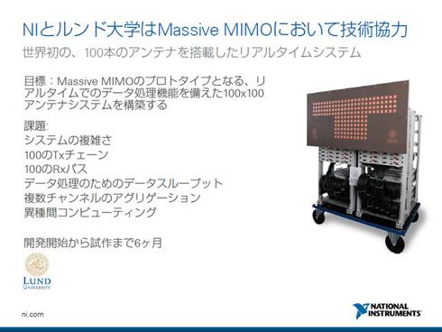 ルンド大学が試作した大規模MIMO。100本のアンテナを搭載した世界初のリアルタイムシステム