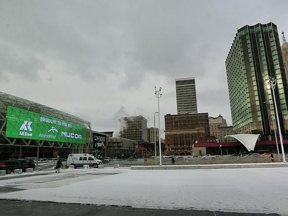 デトロイトショー会場のコボセンター周辺