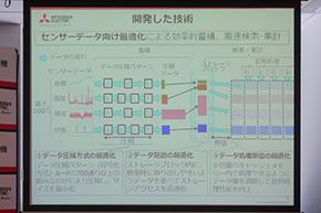 三菱電機の発表した「高性能センサーデータベース」の技術概要