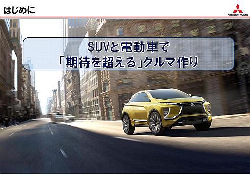 三菱自動車における今後の商品展開の考え方を示すスローガン