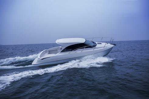 トヨタ自動車とヤンマーが共同開発した船体を採用している「TOYOTA-28 CONCEPT」