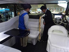 トヨタ自動車が展示した「TOYOTA-28 CONCEPT」の船室