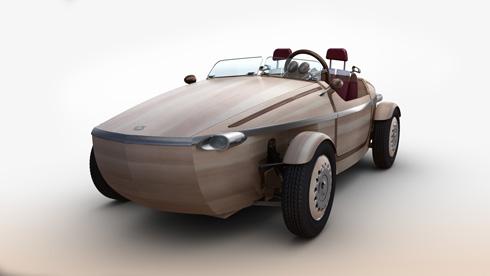 「ミラノデザインウィーク2016」に出展する木製のコンセプトカー「SETSUNA」