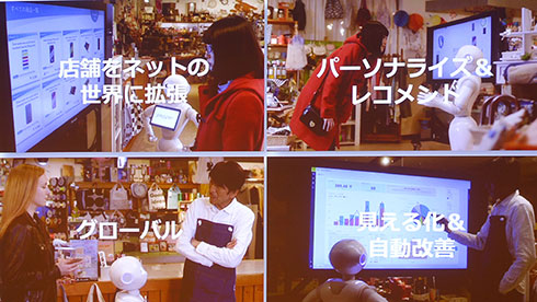「未来の商品棚(仮称)」で提供するサービスの例