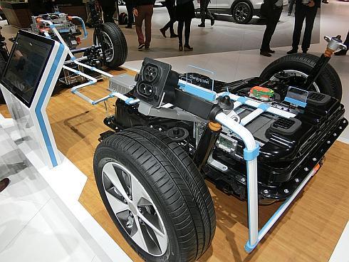 「アイオニック」の電気自動車の電気駆動システム